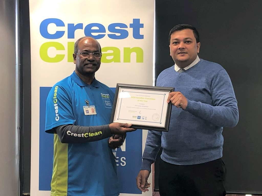 CrestClean's Hamilton Franchisee of the Year 2020